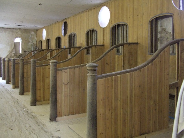 Wooden Stable Stalls After Cleaning / Stripping