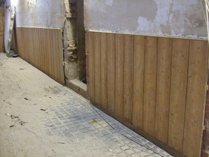 Stripped Wooden Wall Panel