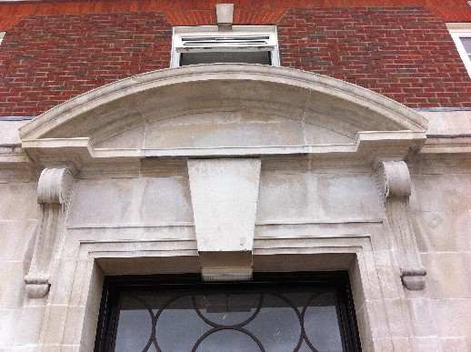 Front Portico Cleaned with New Stonework