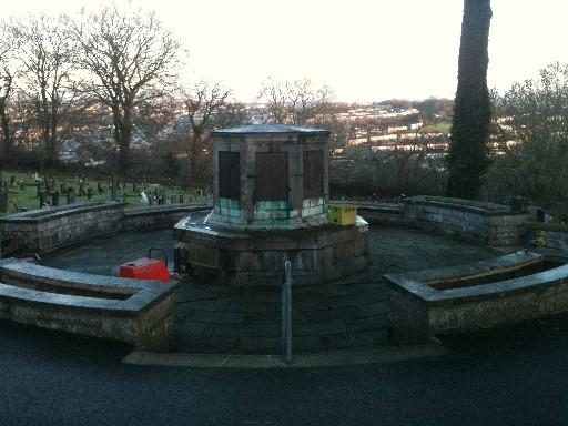 War Memorial Before Cleaning